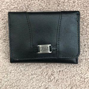2/24 Small black wallet pelle studio trifold